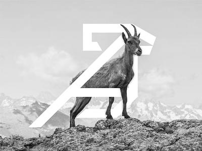 CAPRICORN/GOAT LOGO CONCEPT abstract logo identity mark vector design branding animals sale geometric illustration animal ram goat sheep scratchboard farm premium original modern