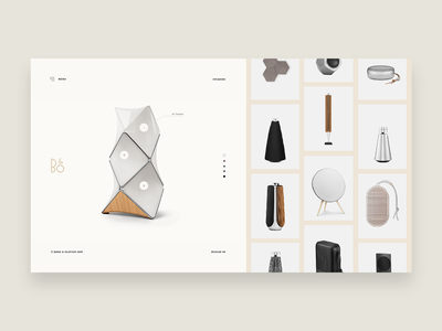 Bang & Olufsen clean ux ui identity branding webdesign web typography design art direction olufsen and bang bang  olufsen