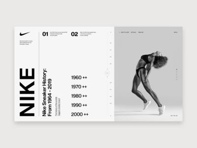 Nike - Timeline nike air max timeline branding clean webdesign web ux ui typography design art direction nike