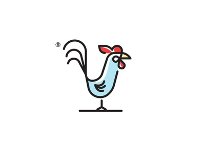 Rooster art vector sketch flat-art design draw illustration branding logo icon