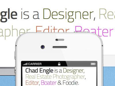 Personal Site Lovin' mobile responsive iphone titillium @font-face personal