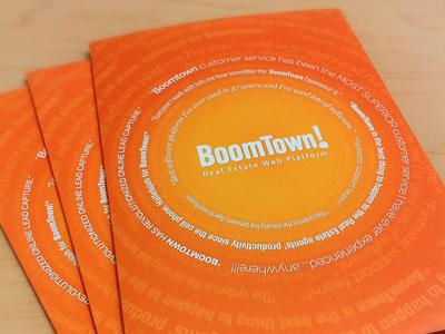 Brochure-age boomtown design orange quotes printed brochure