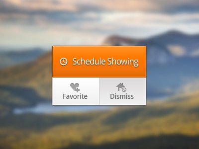 Schedule ui interface buttons actions