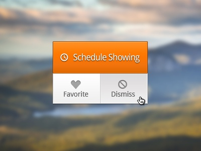 Schedule - Refinements ui buttons interface