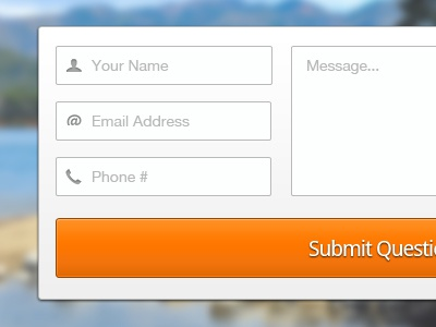 Submit  ui form button fields orange
