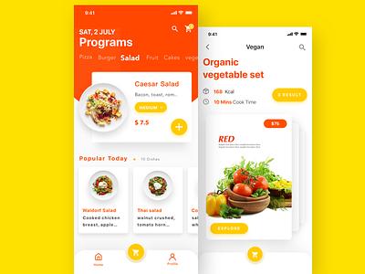Fast food order & delivery app ui design