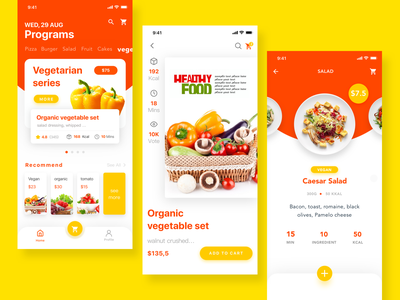 Fast food order & delivery ui app design
