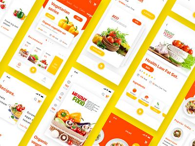 Fast food order & delivery app design ui