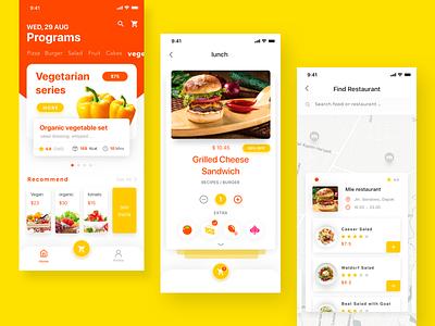Fast food order & delivery ux ui app design