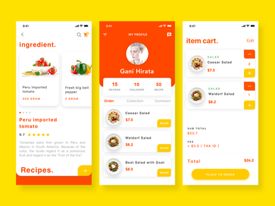 Food order & delivery ux ui app design