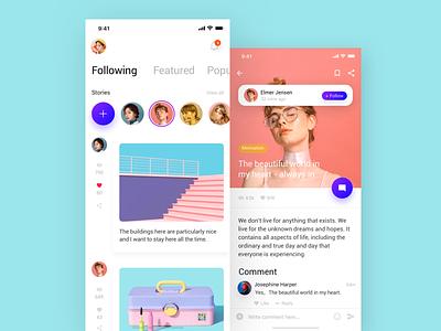 Social Network App-01 ux app ui design