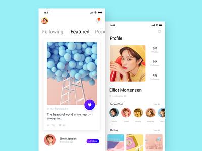 Social Network App-02 ux app ui design