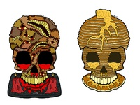 Anthropodermic and Pancake Skulls