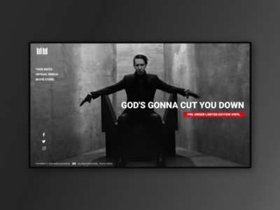 Marilyn Manson redesign website