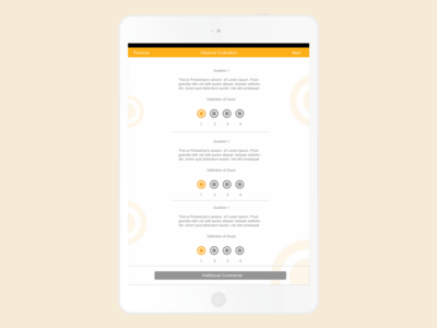 Sales Questionaire Mockup