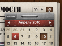 Calendar for iPad app