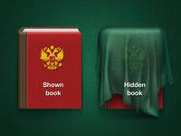 iPad shown/hidden icons
