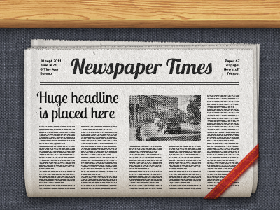 Newspaper icon ipad iphone app icon ios