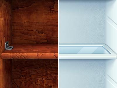 Сabinet and fridge shelves iphone ipad app ios icon shelves