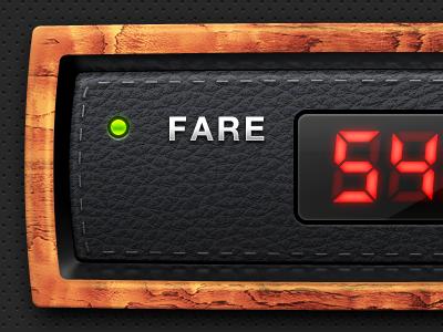 Taximeter for an iPhone app iphone ipad app ios taxi display