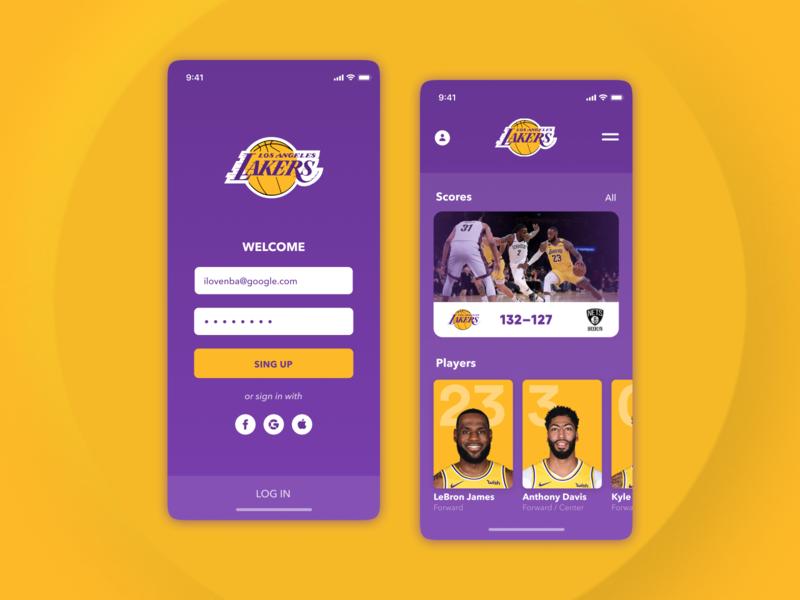 NBA – App for «LA Lakers» fans