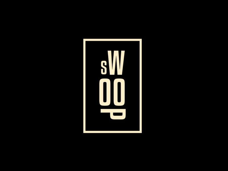 Swoop logo typography type brand identity branding brand