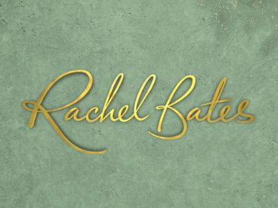 Rachel Bates Interiors 3D Brandmark branding logo design hand lettering typogaphy type logo 3d logo