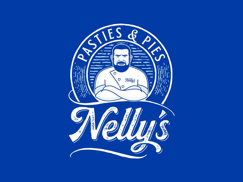 Nelly's Deli/Bakery Logo branding logo illustration cornwall bakery deli delicatessen