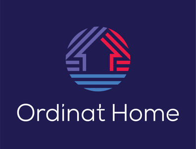 Ordinat Home logo design home brand identity branding logo designer logo design logo
