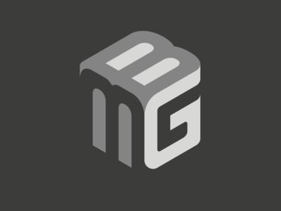 BMG logomark cube bmg logomark brandmark branding logos logo