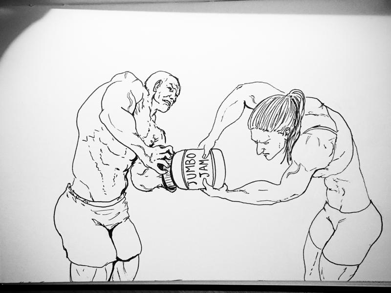 Team workout mission impossible jam jar bodybuilders workout daily sketch sketch