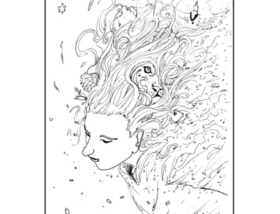 Girl with dreamy hair