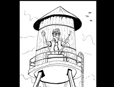 Water tower robot