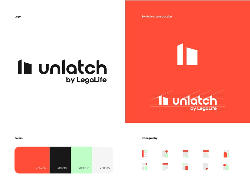 Unlatch Logo graphic design icons agency webdesign logo design branding uiux logo