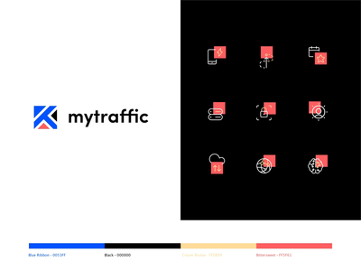Mytraffic graphic design design typogaphy colors brandidentity logodesign rebrand branding ux ui