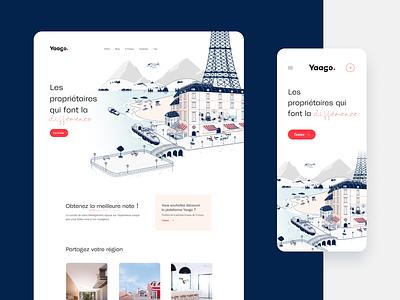 Yaago Home illustration design uidesign responsive design me brand identity webdesig branding ux ui homepage illustration