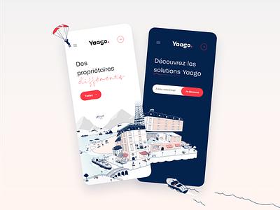 Yaago responsive ui design me branddesigner brand identity webdesign responsive design illustrator illustration branddesign brand ui