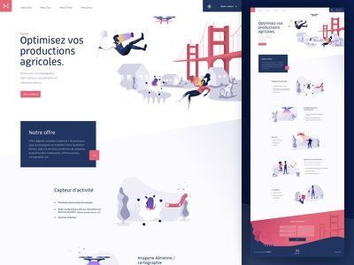 Home page illustrations colors ux ui design illustration paris me agence