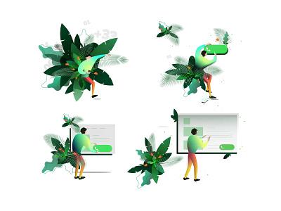 Snapcall-illustrations graphicdesign design draw illustrator colors me illustration ux ui paris