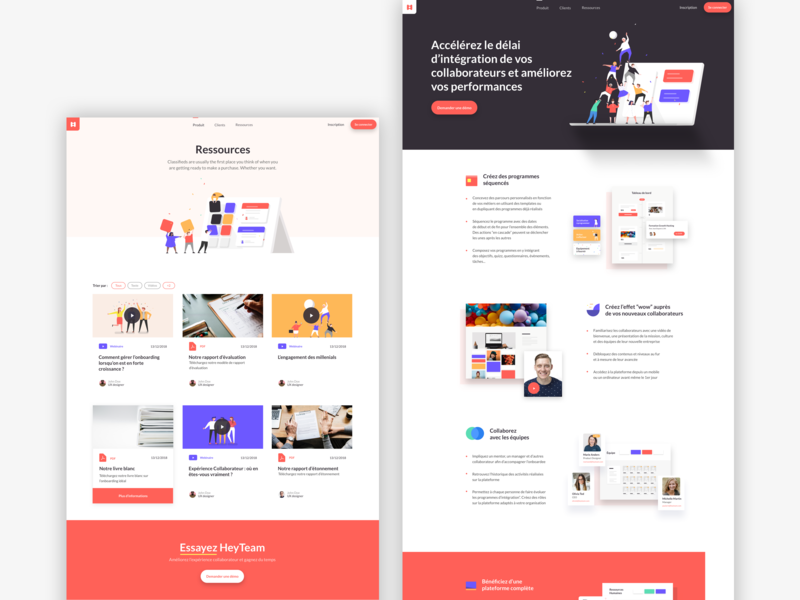 Heyteam_project webdesign graphicdesign illustrator uidesign illustration agenceme agence ui  ux paris