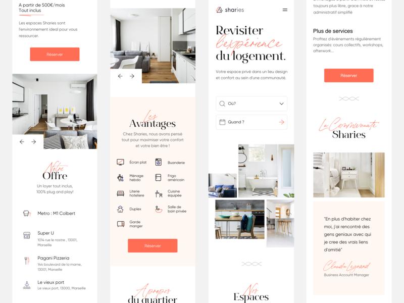 Sharies Responsive typogaphy design me webdesign paris agency responsive design uidesign uiux