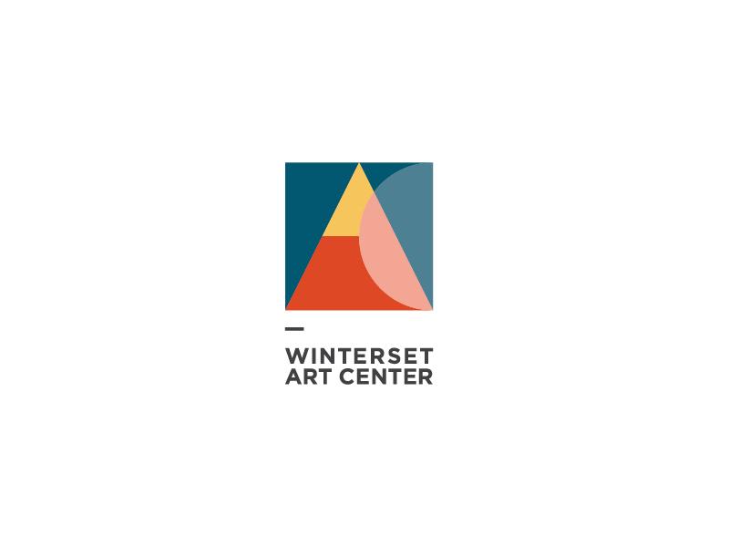 Winterset Art Center design identity branding logo