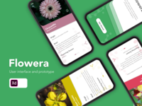 Flowera Mobile App UI Design