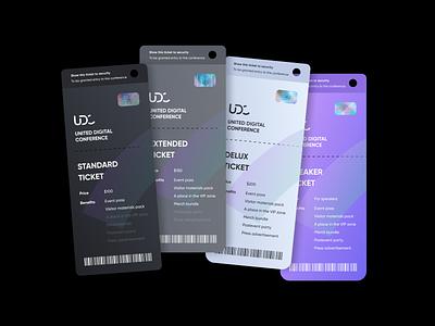 UDC - Tickets conference tickets modern poligraphy logo typography brand brand identity identity branding design