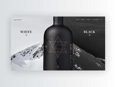 Bruichladdich whiskey minimal website web design ux ui