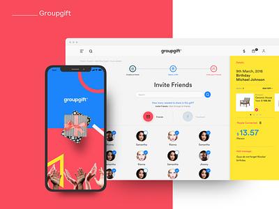 Groupgift figma product design uidesign uxdesign web app design