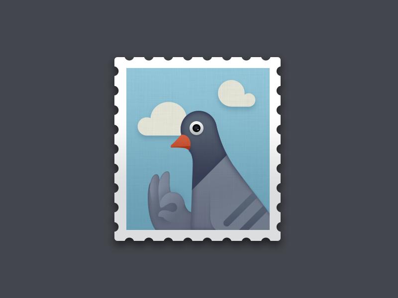 Stamp stamp pigeon icon smartisan