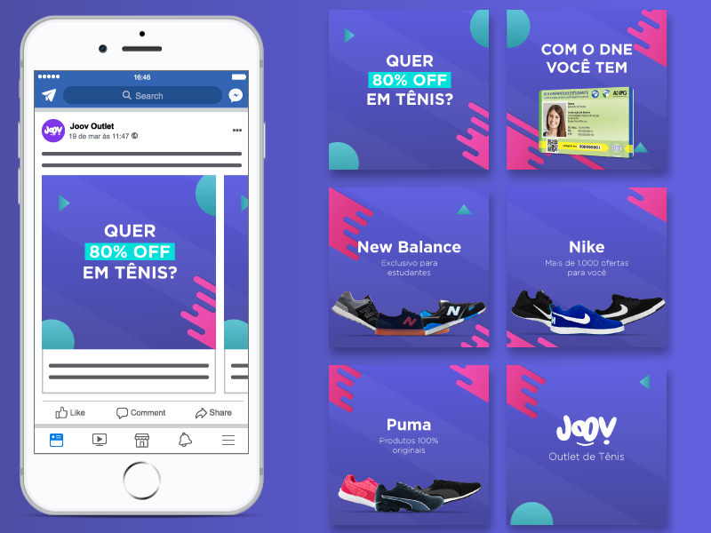 Facebook Ad - Carrossel by Rafael Cruvello on Dribbble