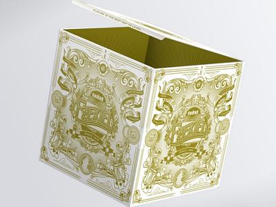 Ezekiel mockup ornements illustration box packaging
