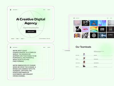 Digital Agency grid flat typography desktop graphic design branding minimalism web-design ui concept